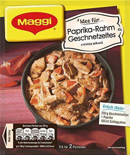 Maggi Fix und Frisch für Paprika-Rahm Geschnetzeltes, 1er Pack (1 x 43 g)