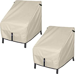 Porch Shield Patio Chair Covers - Waterproof Outdoor Single Armchair High Back Adirondack Chair Cover 2 Pack - 30W x 33D x...