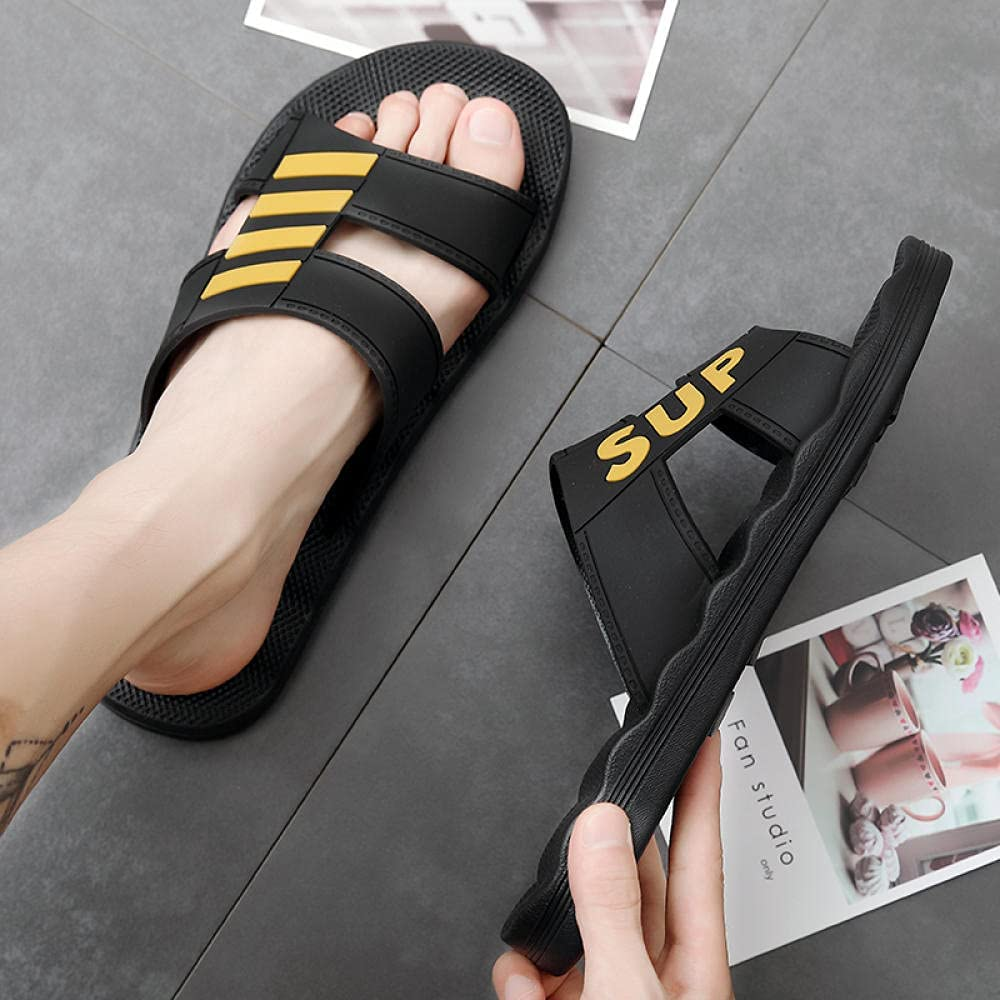 Kirin-1 Flip Flop Sandals for Women,Extra Large Size Slippers Men's Household Anti-Skid Defertia 49 Yards-45_Black Gold