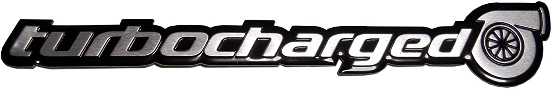 ERPART Turbo TURBOCHARGED Aluminum Emblem Badge Compatible with Honda Civic Si Acura NSX TSX RDX RSX Type-S Subaru Impreza WRX Mazda Mazdaspeed 3 6 Nissan Sentra SER 300ZX 350Z Datsun 280ZX 280Z