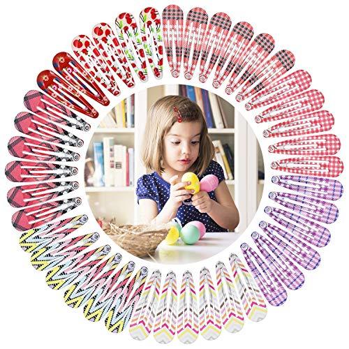 HQdeal 42 Stück Haarspangen Set für Kinder Mädchen Kleinkinder Damen, 5cm Klein Hair Clips Spangen Haarklammern Bunt Haarclips Bunt Barrettes Haarstyling Accessoires