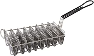 Winco TB-8, Taco Basket For 8 6-Inch Shells, Deep Fryer Taco Holder Basket, Commercial Heavy-Duty Taco Fry Basket with Grip Handle