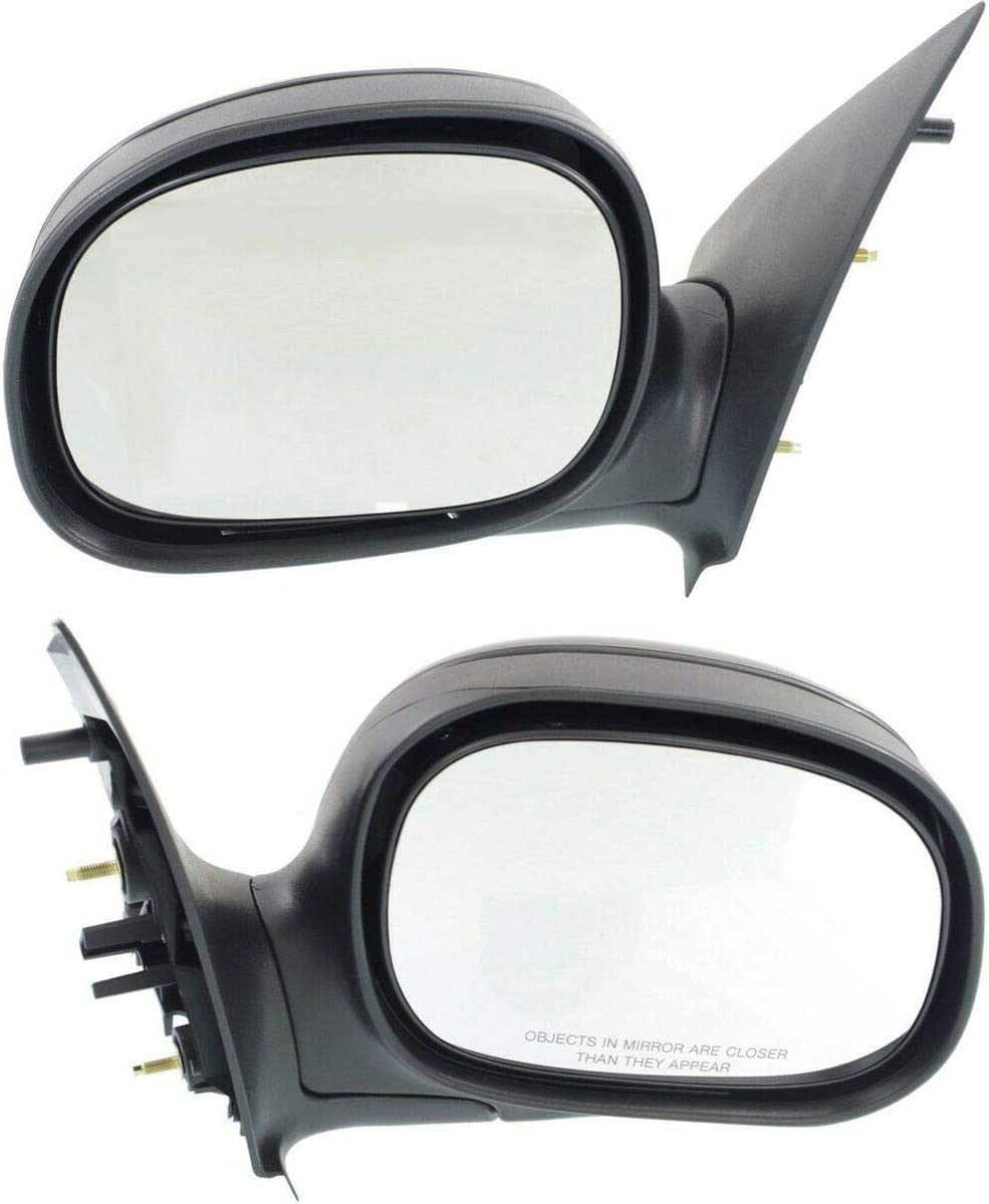 Limited time for free shipping Manual 5 popular Mirror Set Of 2 Compatible with F-150 Ford Manu 1997-2002