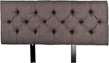product image for MJL Furniture Designs Jackie Collection Padded and Diamond Tufted Upholstered Solid Wood Twin Size Headboard, HJM100 Series, Gray-Red Tint
