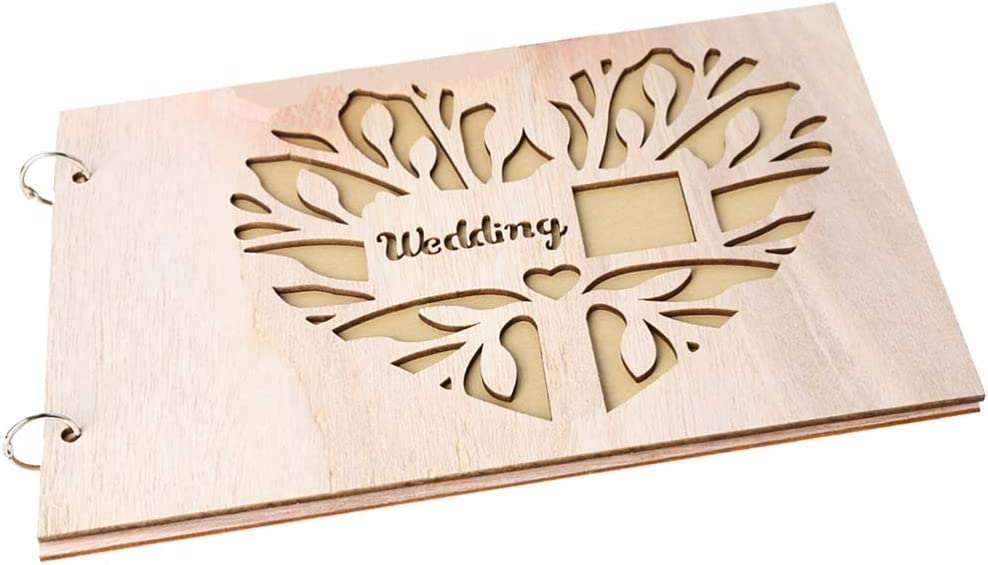 Holibanna Ranking TOP6 Wooden Wedding Guest Book Engraved Colorado Springs Mall Alterna Personalize