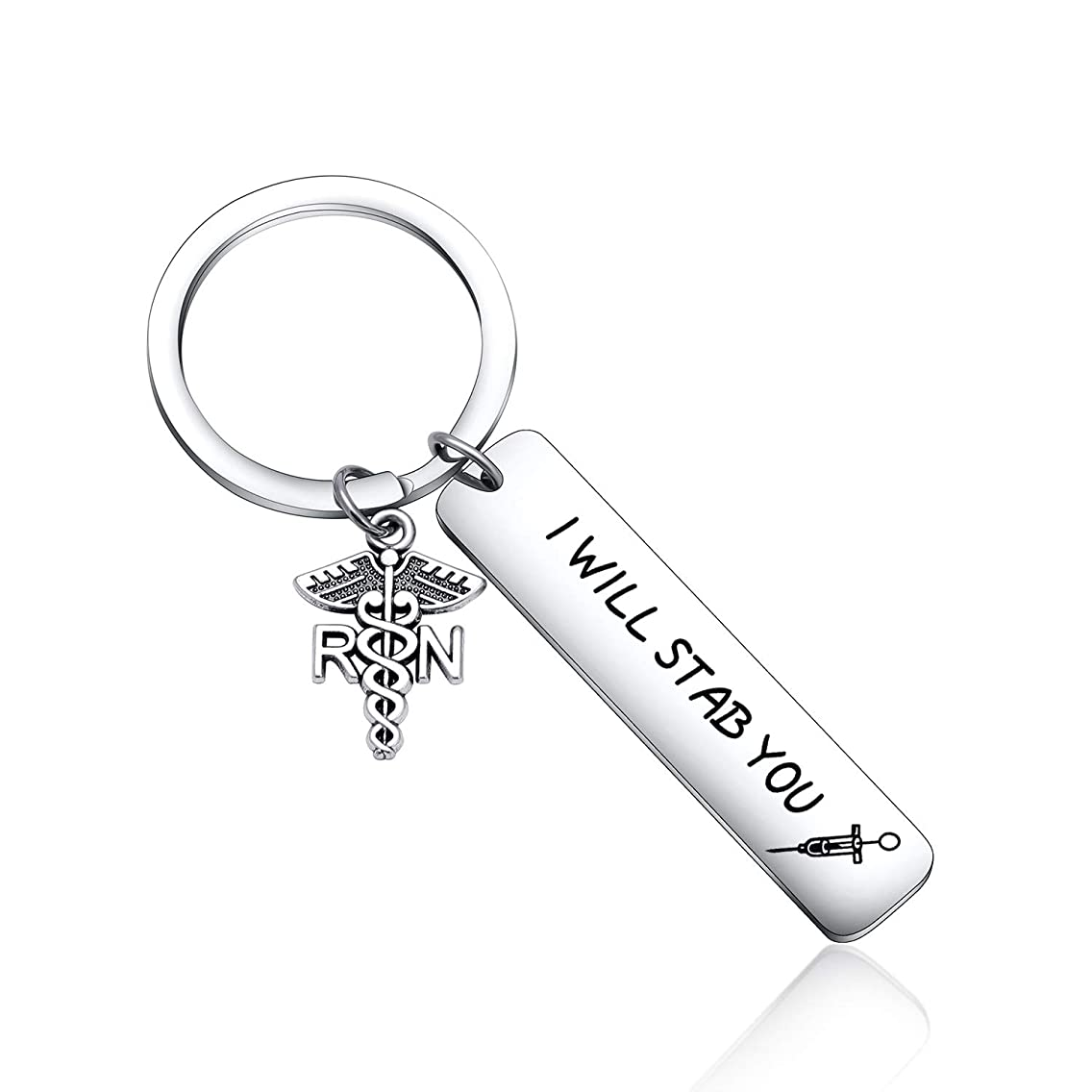Funny Keyring I Will Stab You Nurse Gift Medical Gift Nursing Keychain Nurse Graduation Jewelry