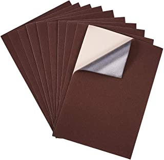 "BENECREAT 20PCS Velvet (Brown) Fabric Sticky Back Adhesive Back Sheets, A4 Sheet (8.3"" x 11.8""), Self-Adhesive, Durable and Water Resistant, Multi-Purpose, Ideal for Art and Craft Making"