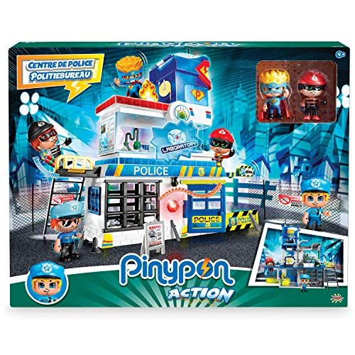 Giochi Preziosi Pinypon - Estación de policía con 2 Personajes Mix&Match y Accesorios