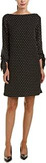 Tahari by Arthur S. Levine Women's Relaxed Fit and Long Sleeve Georgette Dress