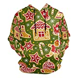 Moda 3D impresión de dibujos animados de Navidad patrón de galletas unisex suéter fresco sudaderas con bolsillo canguro para hombres y mujeres