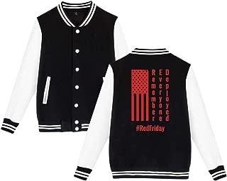 SHIEZZ Remember Everyone Deployed Unisex Baseball Uniform Jacket Sweater Coat