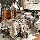 venta de fundas nordicas,EUROPEO TIANSI Algodón Satin Jacquard Cuatro sets, algodón se utiliza para la cama de la cama de 1,8 m de la cama, usado en el hotel familiar Habitación infantil Día de la ma