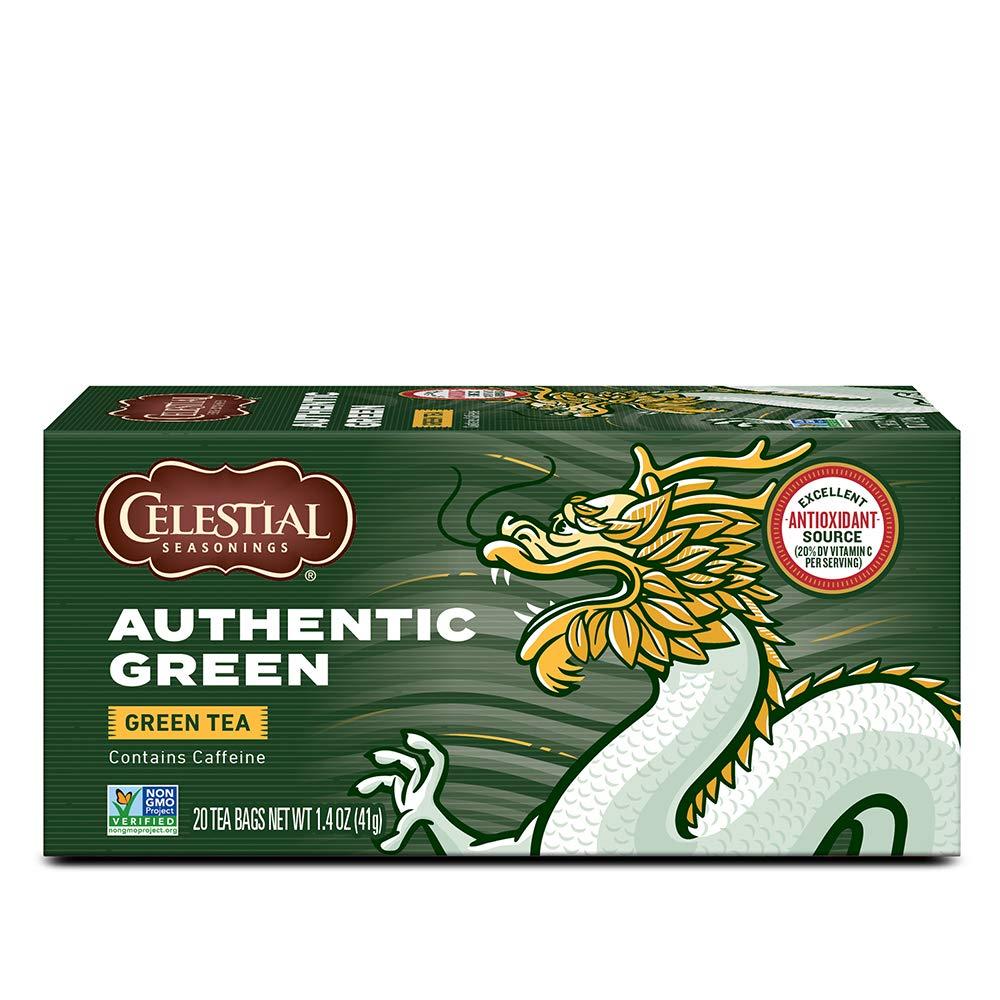 Over item handling ☆ Celestial Seasonings Green Tea Authentic Pack Count 20 Wholesale 6 of