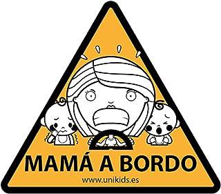 Unikids Pegatina Coche MAMÁ A Bordo