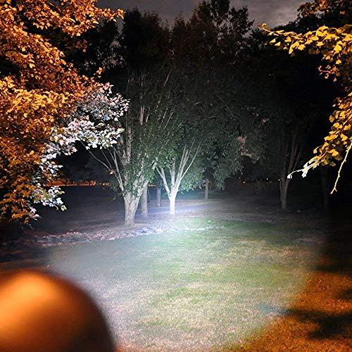 Lumitact G700 LED Taschenlampe, Extrem Hell 3000 Lumen CREE Wiederaufladbare Taktische Taschenlampen, Aufladbar Fackel für Camping Wandern und Notfälle (Inklusive 1 x 18650 Batteries) - 2