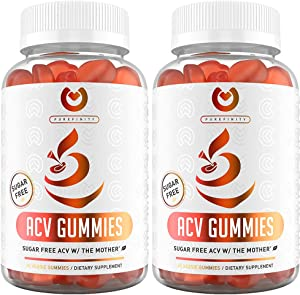 (2-Pack) Apple Cider Vinegar Gummies – Sugar Free | Detox, Cleanse & Immunity | Unfiltered ACV from The Mother - Alternative to ACV Capsules, Pills - 120 Gummies.