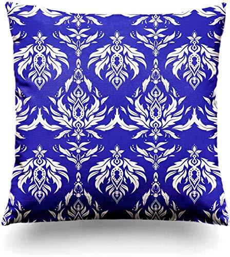MODORSAN Throw Pillow Cover Los Patrones sin Costuras de Tejido Antiguo Ratán o bambú Sofá casero Tradicional Decorativo 18'x18' Funda de Almohada Funda-Funda de Almohada 18