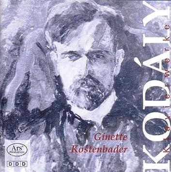 Kodaly, Z.: 7 Piano Pieces, Op. 11 / 9 Piano Pieces, Op. 3 / Meditation Sur Un Motif De Claude Debussy / Valsette