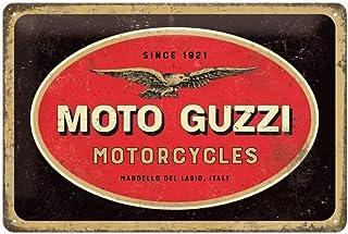 Nostalgic-Art Cartel de Chapa Retro Moto Guzzi – Logo Motorcycles – Idea de Regalo para los Fans de Las Motos, metálico, D...