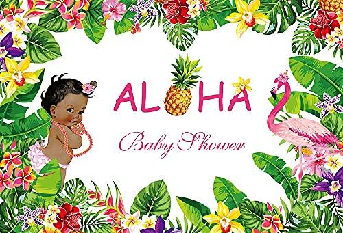 Fondo de fotografía Fiesta Verano cumpleaños piña Flores Florales Baby Shower Foto Estudio telón de Fondo A12 9x6 pies / 2,7x1,8 m