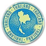 Pegatinas de vinilo impresionantes (juego de 2) 30 cm – azul Tailandia mapa pegatinas divertidas para portátiles, tabletas, equipaje, chatarra de reservas, neveras, regalo fresco #9283