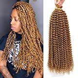 7 Pack Passion Twist Hair Water Wave Crochet Hair 18 Inch Bohemian Crochet Braids for Passion Twist Crochet Braiding Hair Kanekalon Synthetic Fiber 22 Strands (18' 7pcs, 27#)