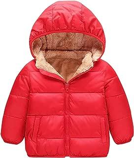 AIEOE Baby Winter Hooded Puffer Coat Snowsuit Warm with Hat Zipper Outwear