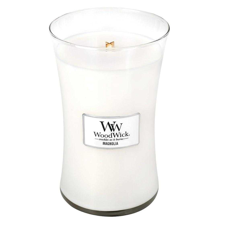 大理石香り鼻Woodwick Magnolia , Highly Scented Candle、クラシック砂時計Jar , Large 7-inch、21.5?Oz
