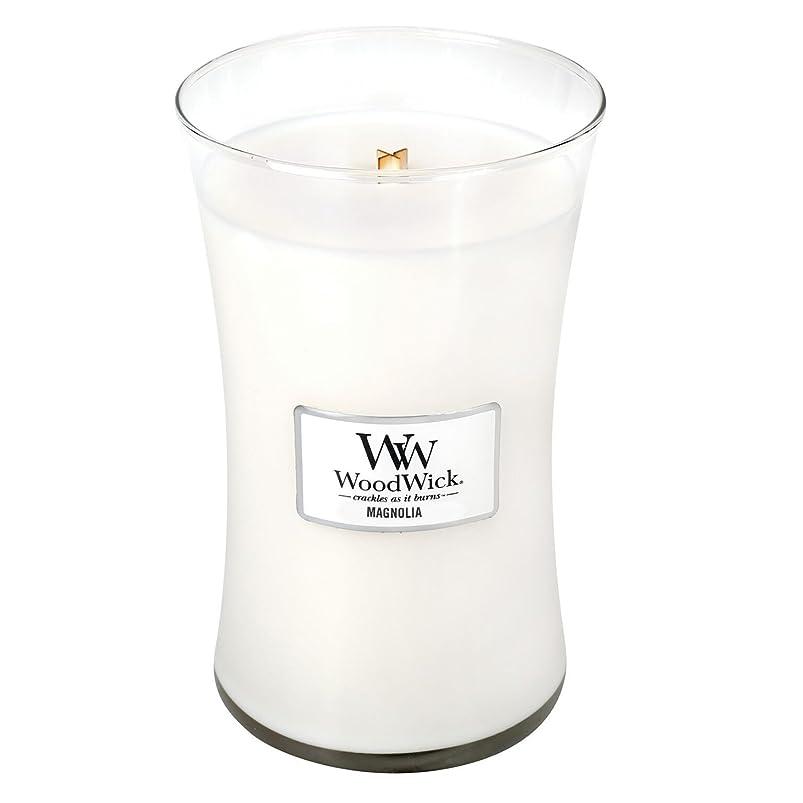 行う虚弱哲学者Woodwick Magnolia , Highly Scented Candle、クラシック砂時計Jar , Large 7-inch、21.5?Oz
