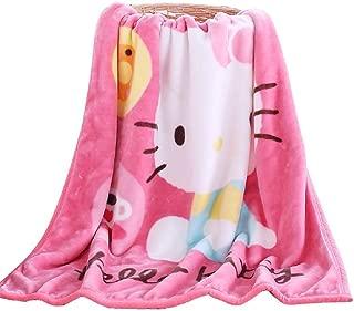 INNOLITES Cartoon Blanket Throw Hello Kitty Printing Cover Flannel Super Soft Plush Sherpa Beach Blanket for Adults, Boys, Girls, Kids (Pink)