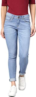 AMERICAN CREW Women's Slim Fit Ankle Jeans