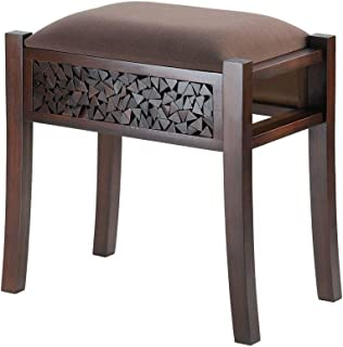 Accent Plus Room Stool, Alma Modern Portable Patio 4 Foot Stool Chair, Wood