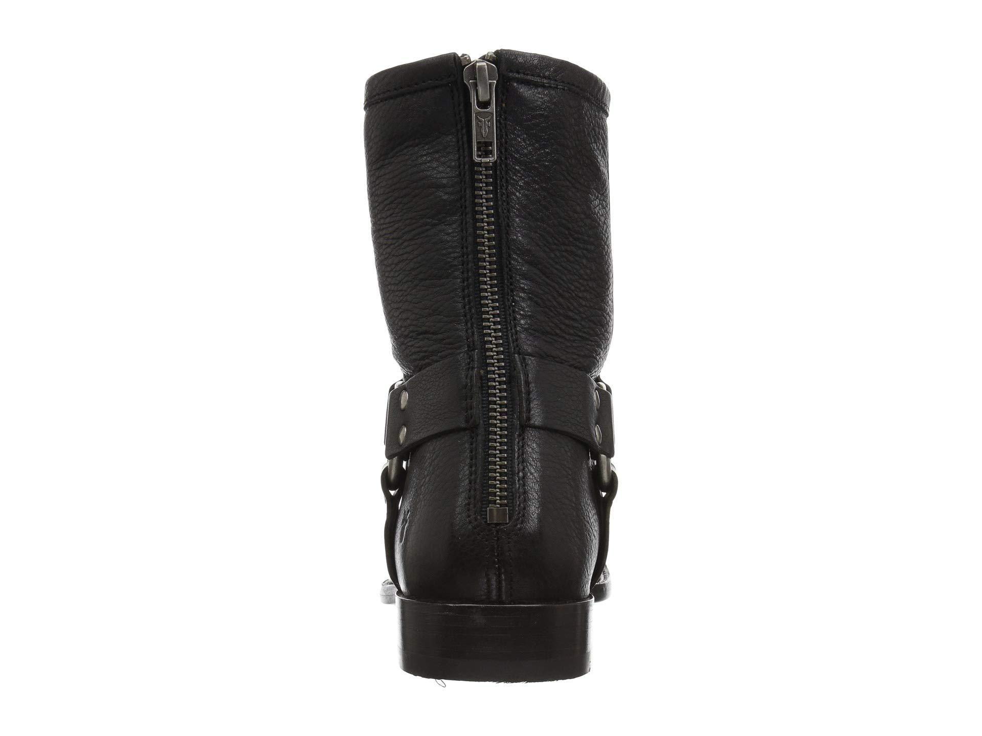 Phillip Frye Leather Short Soft Black Vintage Harness z77qAwd