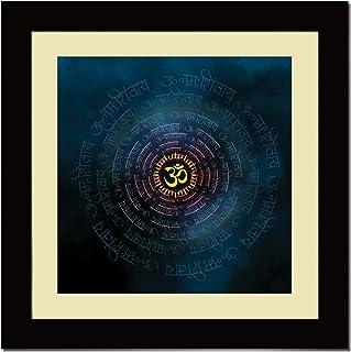 ArtX Paper Premium OM Namah Shivaya Blue Wall Art, Multicolor, Traditional, 16X16 in, Set of 1