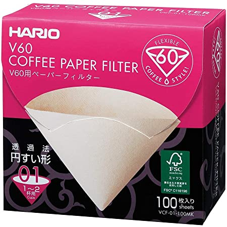 Hario Box of Paper Filters for 01 Dripper, 100 Sheets