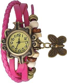 Meclub Analogue Yellow Dial Dori Watch Girl's & Women's Watch (Pink)