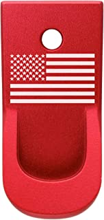 for Ruger LCP II Finger Extended Magazine Base Plate .380 Red - Choose Your Design