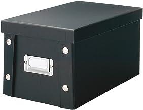 Zeller 17938 pudełko do przechowywania, tektura, czarna, ok. 16,5 x 28 x 15 cm