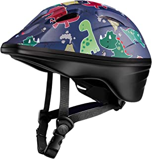 OutdoorMaster Toddler Bike Helmet - CPSC Certified Multi-Sport Adjustable Helmet for Children (Age 3-5), 14 Vents Safety & Fun Print Design for Kids Skating Cycling Scooter