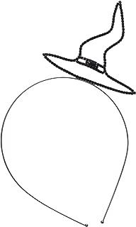 Women's Halloween Rhinestone Witch Hat Headband