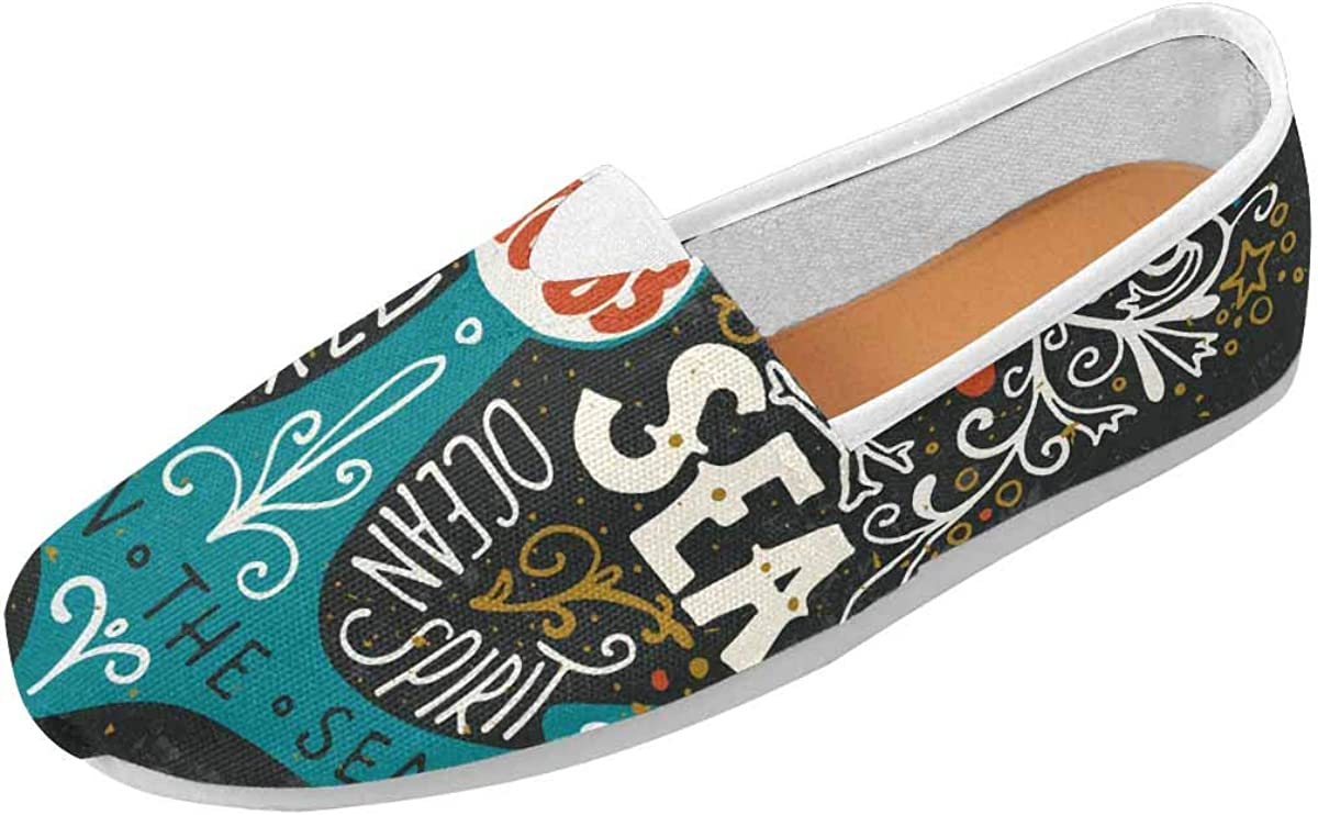 InterestPrint Land and Sea Women's Loafers Casual Slip On Flats