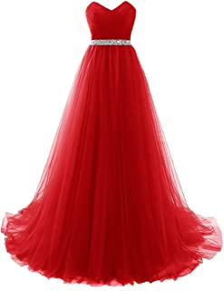 Suchergebnis Auf Amazon De Fur Abendkleid Rot Lang Luckyshe Bekleidung