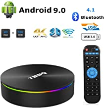 $49 Get Android TV Box, 8.1 Smart Box 4GB RAM 32GB ROM Network Set Top Box Amlogic S905X2 Quad-core Cortex-A53 Support 2.4G/5G Dual Band WiFi 1000M Ethernet/Bluetooth 4.1/H.265 Decoding/4K HDR