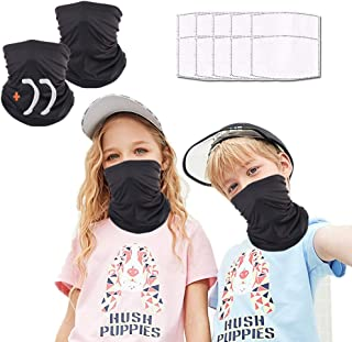 Face cover reusable with 10pcs Carbon Filters, Scarf cover Neck Gaiter face cover, Washable Bandana face cover for Men Women
