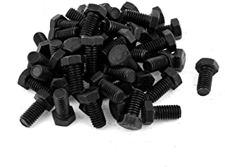 Quantity: 10 Black Oxide Full Thread Oval Point 1-8 x 2 1//2 Coarse Thread Alloy Steel Case Hardened 1 Square Head Bolts Length: 2 1//2 inch Square Head Set Screw