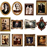 Outus 12 Pieces Haunted Pictures Gothic Mansion Portraits Horror Pictures Halloween Decorations Halloween Party Decorations Supplies (Frame Not Included)