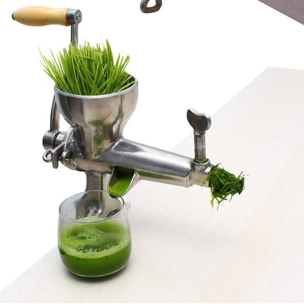 Exprimidor Manual de Acero Inoxidable 304, para jugo de trigo, hierba de trigo, apio, col rizada, perejil, granada, manzana, uvas, frutas y verduras