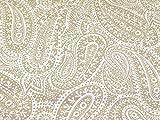 Paisley Print Baumwolle Canvas Stoff Sand–Meterware