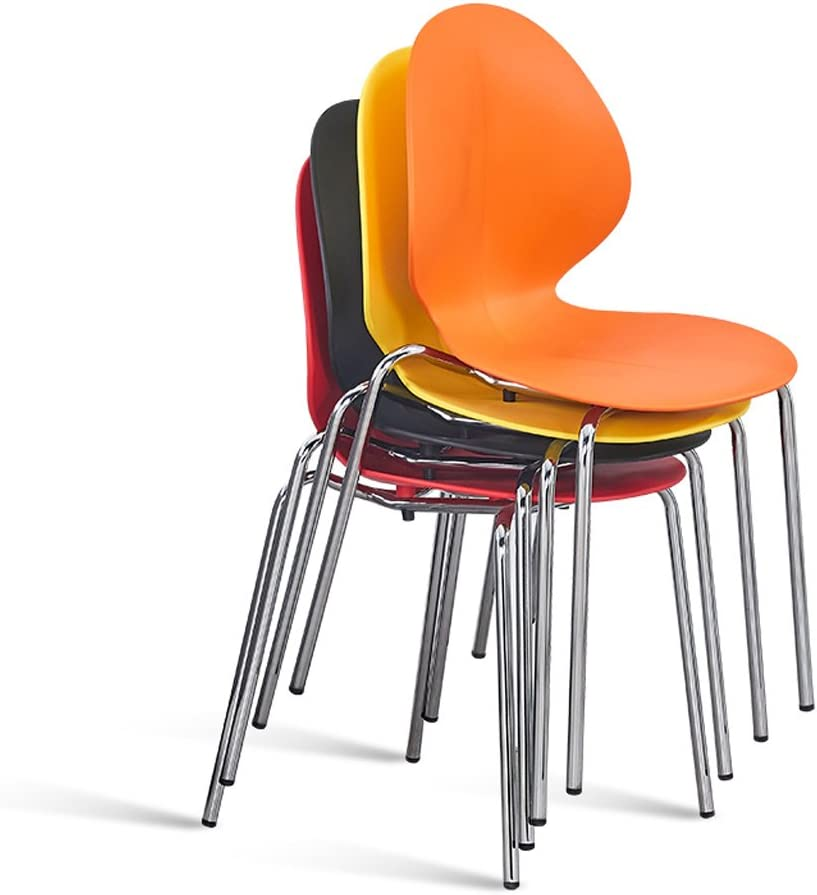 HURONG168 Chaises de cuisine Chaise de dossier nordique en fer forgé maison jambe de fer chaise pour adulte thé boutique fast food tabouret siège lounge (Couleur : Jaune) Jaune