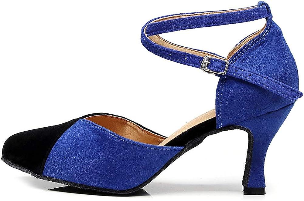HROYL Womens Latin famous Salsa Ballroom Dance Strap Ladies Shoes Ankle Japan's largest assortment